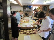 Making sandwiches for others