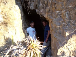 My friend Nick and I tucked into the entrance of a cave at the top of the granary ruins in Ollantaytambo.