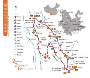 NW Yunnan Map
