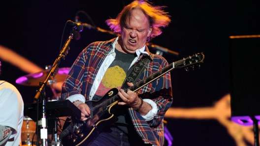 Neil Young in New York's Central Park
