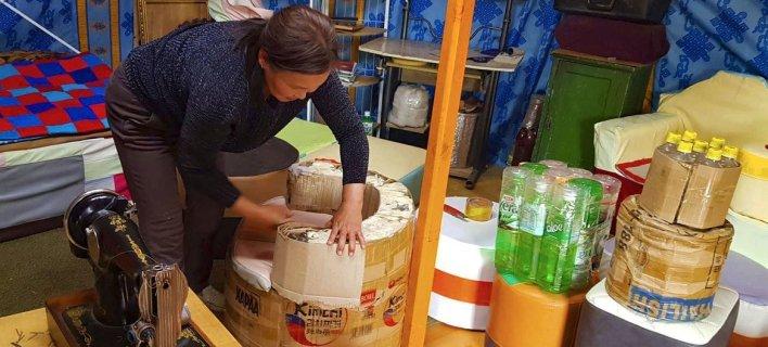 Female entrepreneurs in Mongolia are creating household goods from discarded plastic.