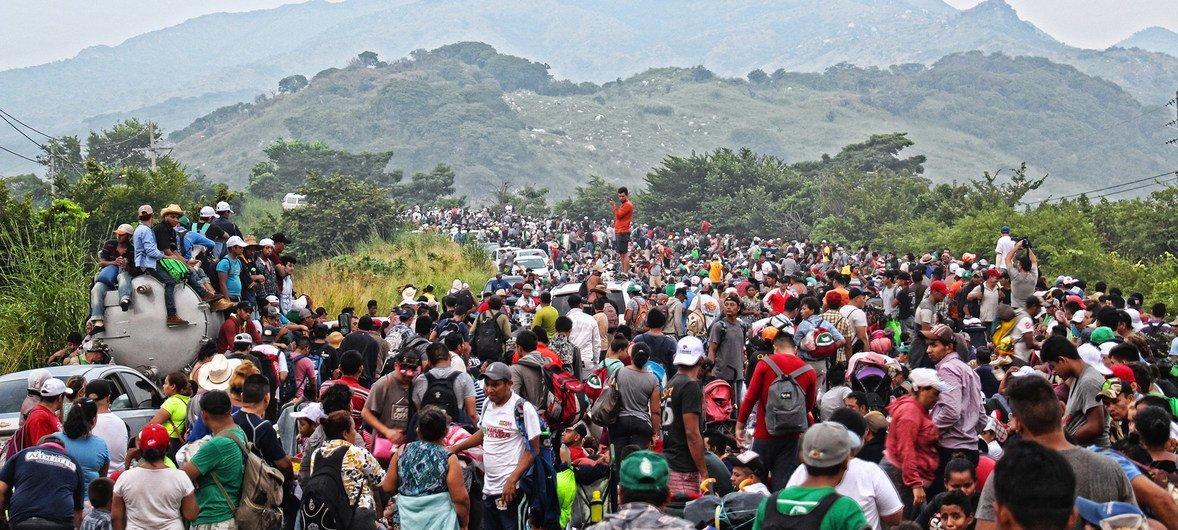 Migrant caravan: UN agency helping 'exhausted' people home     UN News
