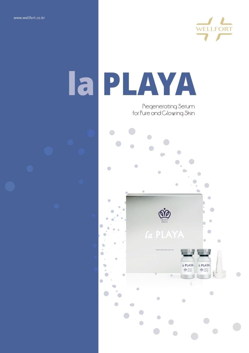 la PLAYA Regenerating Serum for Pure and Glowing Skin www.wellfort.co.kr