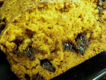 This chocolate chip pumpkin bread is the perfect dish for fall pot lucks. Photo Credit: Elana Pisani