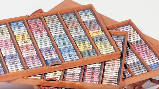 Sennelier 525 Pastel Wooden Box
