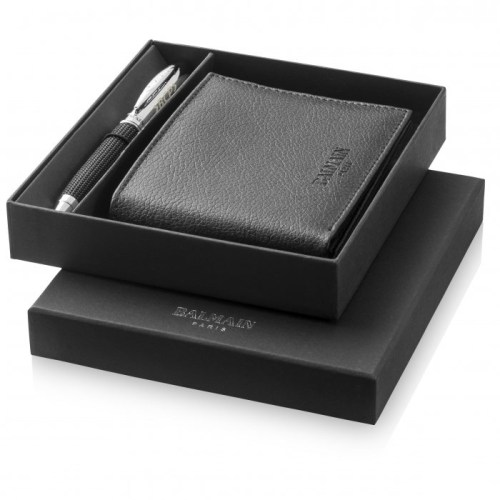 Balmain Pen and Wallet Gift Set