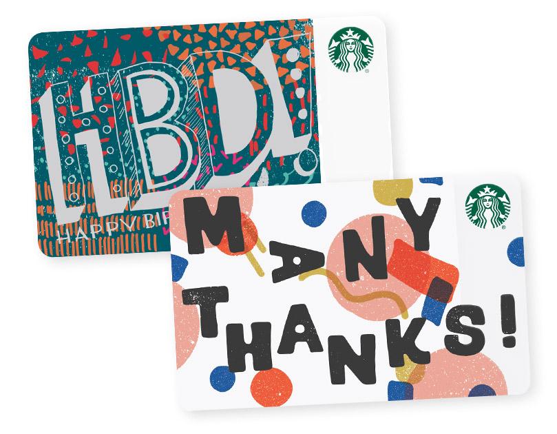 starbucks gift card perfect