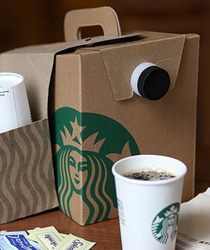 Cute Amazon Box Robot Wallpaper Coffee Traveler Starbucks Coffee Company