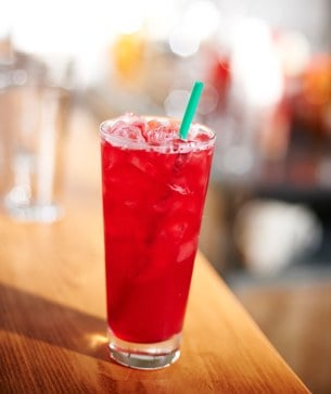 Teavana Shaken Iced Passion Tango Tea Lemonade  Starbucks Coffee Company