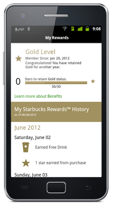 View your Rewards and Rewards history.