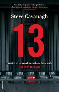 13 El asesino no está en el banquillo de los acusados está entre el jurado, de Steve Cavanagh