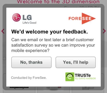 LG web survey