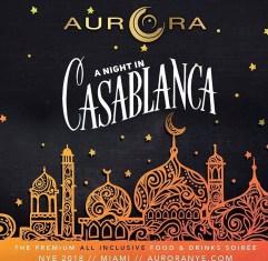 Aurora Events Casablanca 2018 NYE
