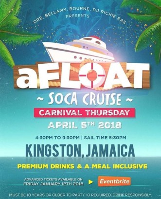 Jamaica Carnival 2018 Party - Afloat
