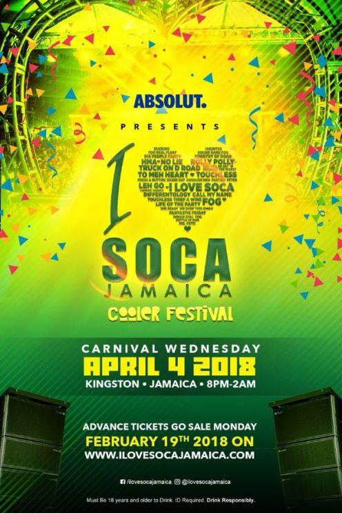 I Love Soca Jamaica Carnival 2018