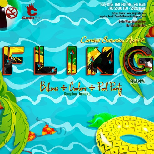 Fling Cooler Party Code Red Jamaica Carnival 2018