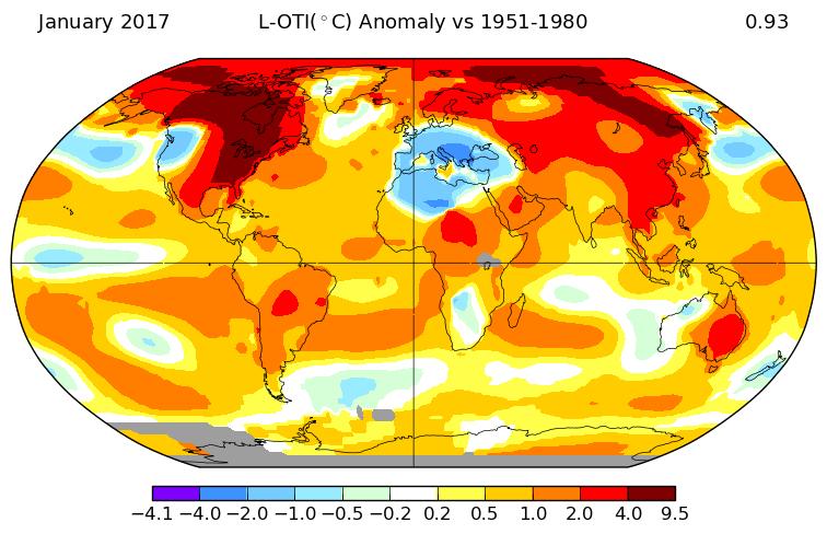 Très chaud en janvier malgré La Niña, annonce la NASA