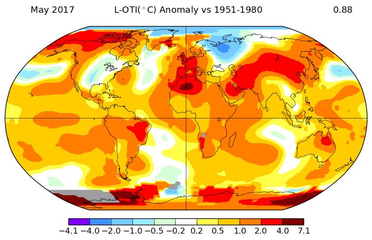 Record de chaleur dans l'hémisphère sud en mai, selon la NASA