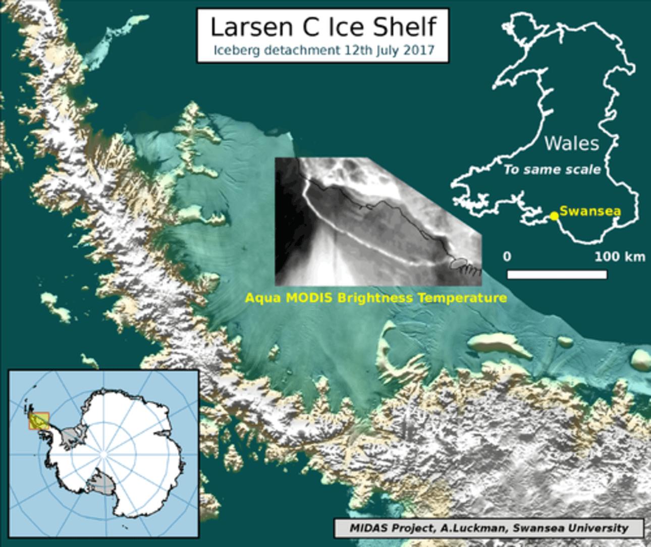 L'iceberg géant s'est finalement détaché de Larsen C