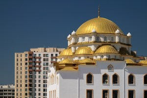 The Mosque with gilded roofs in Ankara Turkey.