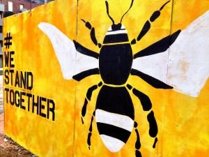 A mural commemorating the Manchester terrorist attacks.