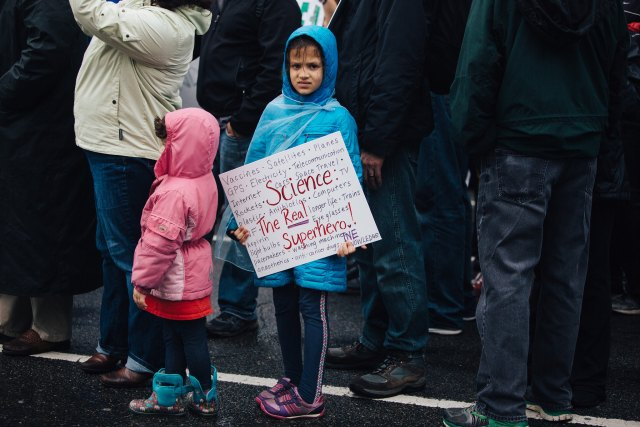 Children at a climate change protest