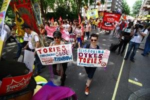 Lesbians at London pride.