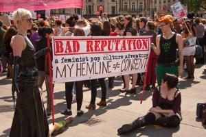Anti-rape activists at Slutwalk 2011