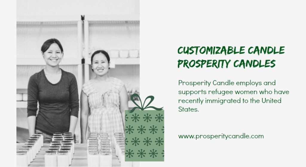 prosperity candles - social enterprise holiday gifts