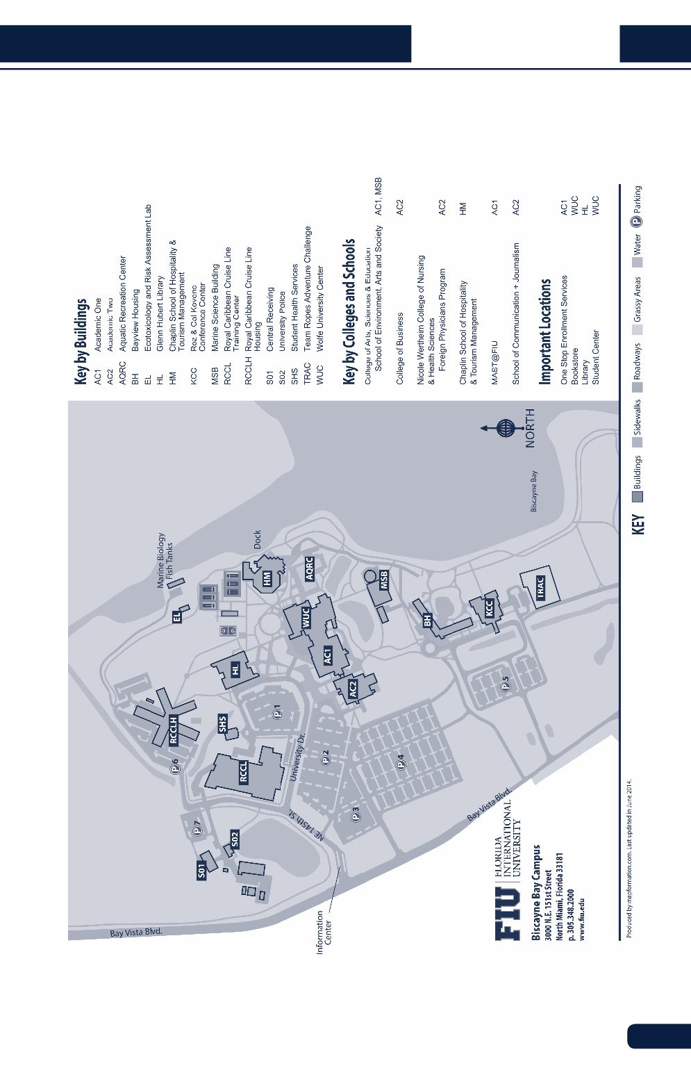 Fiu Map Mmc : Biscayne, Campus, Maping, Resources
