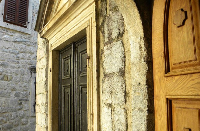 Church doors in Kotor, Montenegro