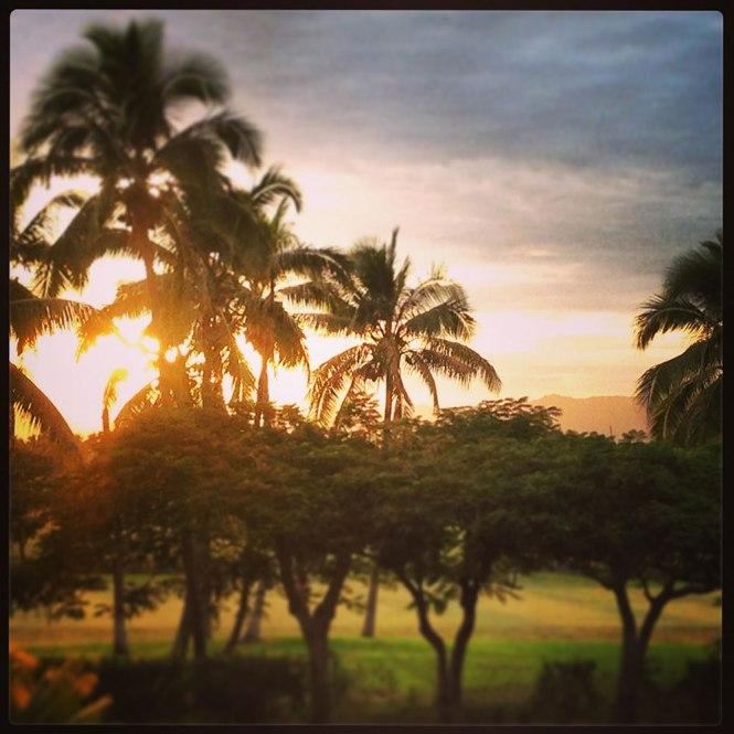 Fiji stopover sunrise on Denarau Island