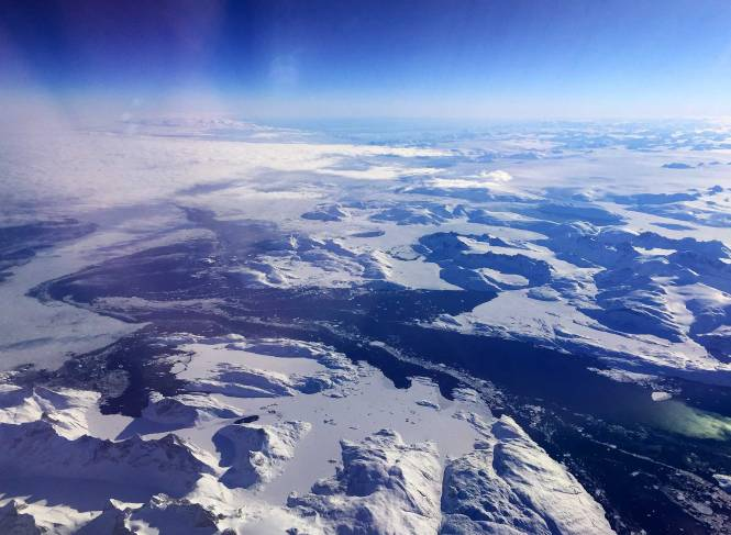 Flying over Greenland