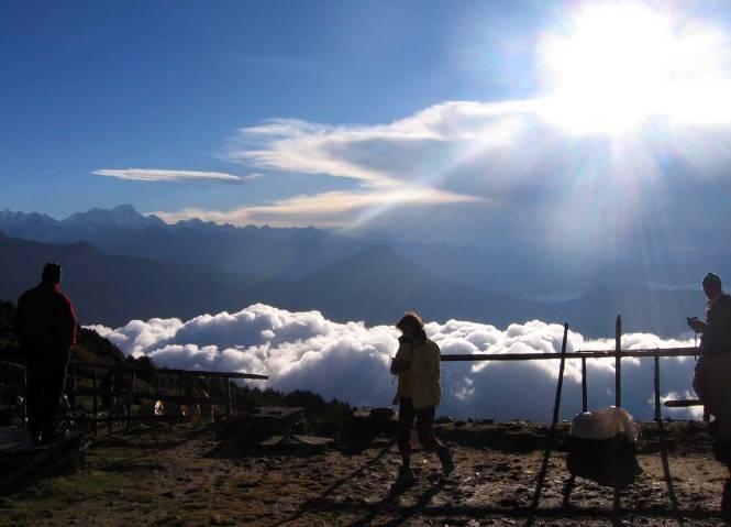 Himalayan skyline.
