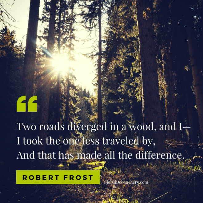 Robert Frost travel quote
