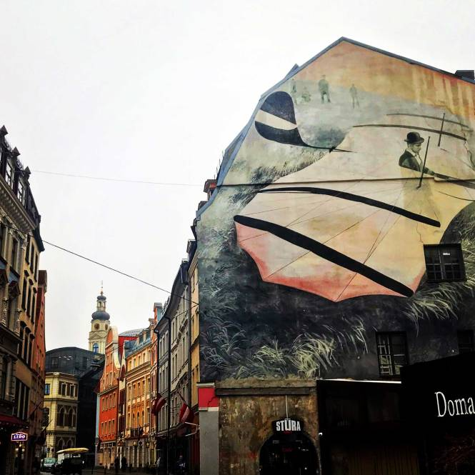 Rozena Iela street art in Riga, Latvia