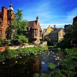 dean village in edinburgh scotland