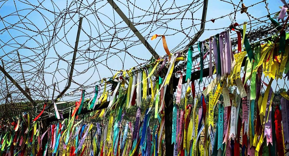 Freedom ribbons at the DMZ