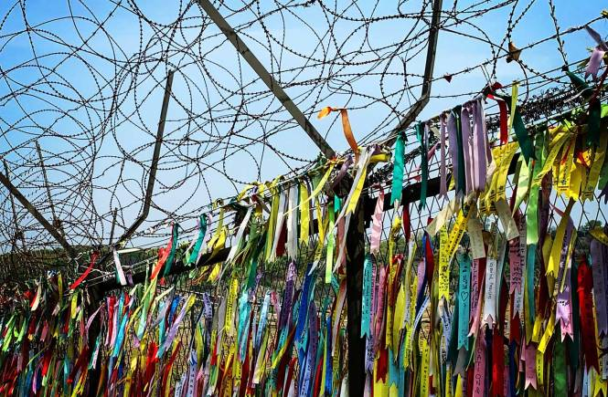 Freedom ribbons from visiting the DMZ