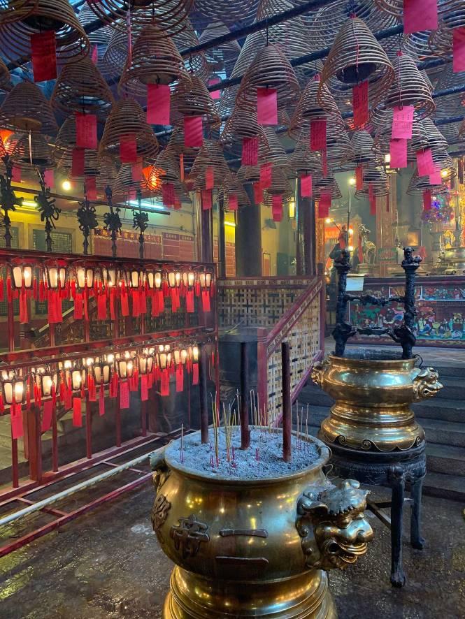 Man Mo Temple in Hong Kong