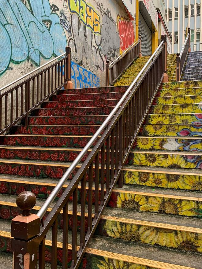 Yau Ma Tei Floral Stairs in Hong Kong
