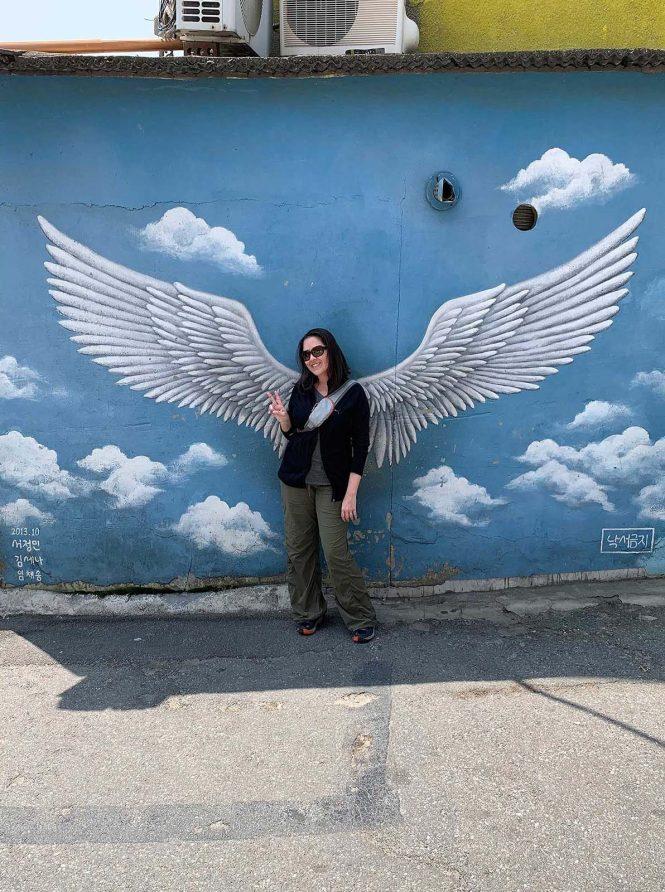 Ihwa Mural Village angel wings