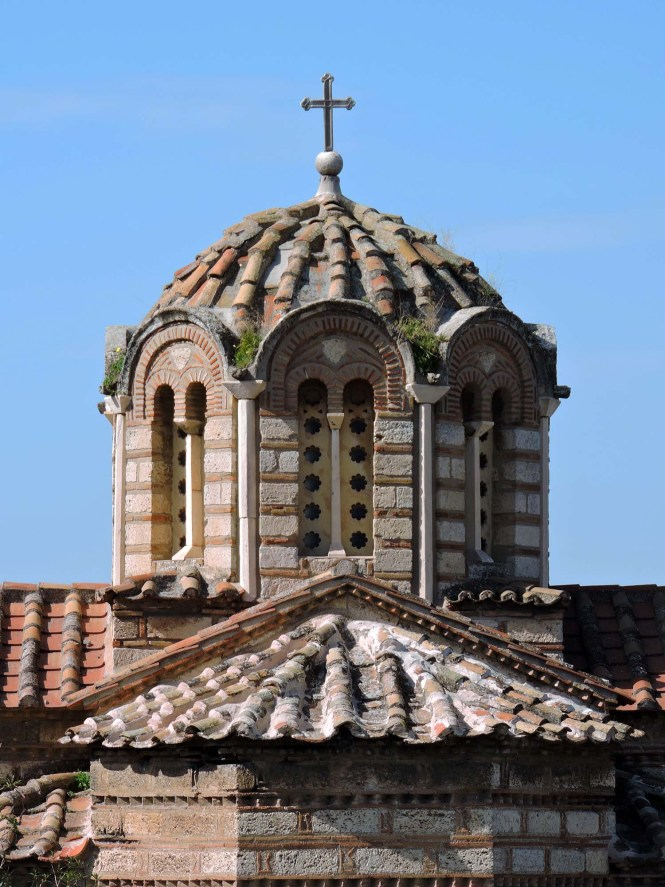 Detail shot of the Church of the Holy Apostles