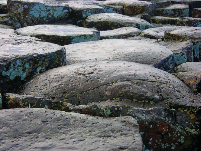Giant's Causeway rocks in Northern Ireland