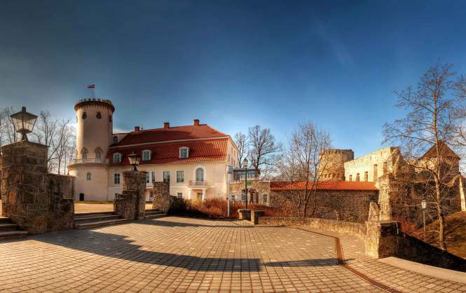 The Cesis Castle Complex outside Riga, Latvia