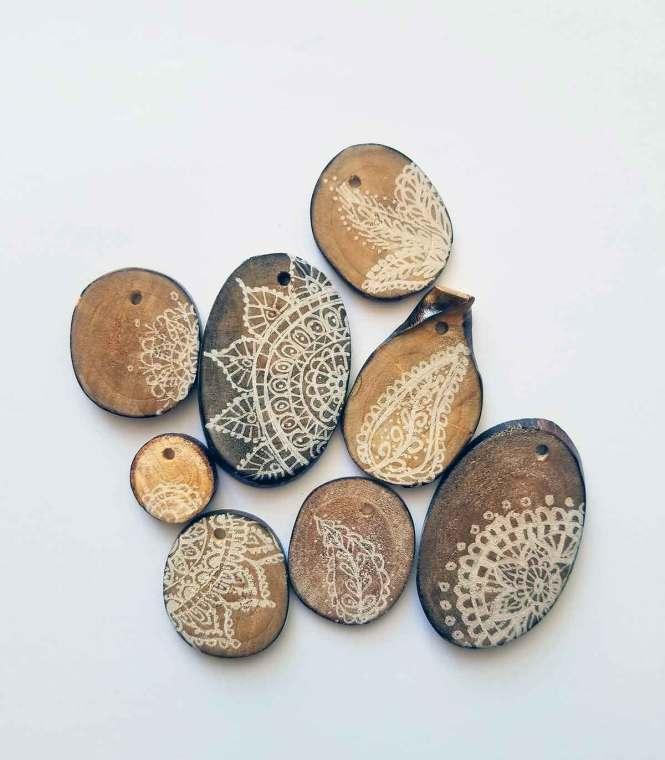 Free Verse painted pendants