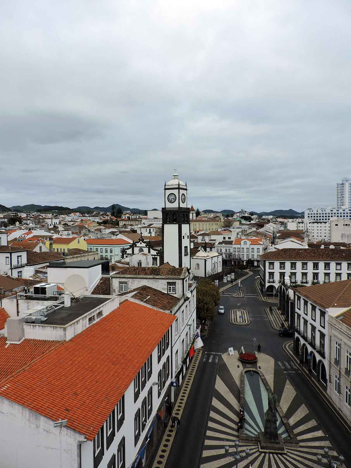 Getting to the Azores, downtown Ponta Delgada