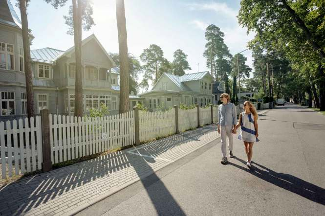 Picturesque homes in Jurmala, Latvia