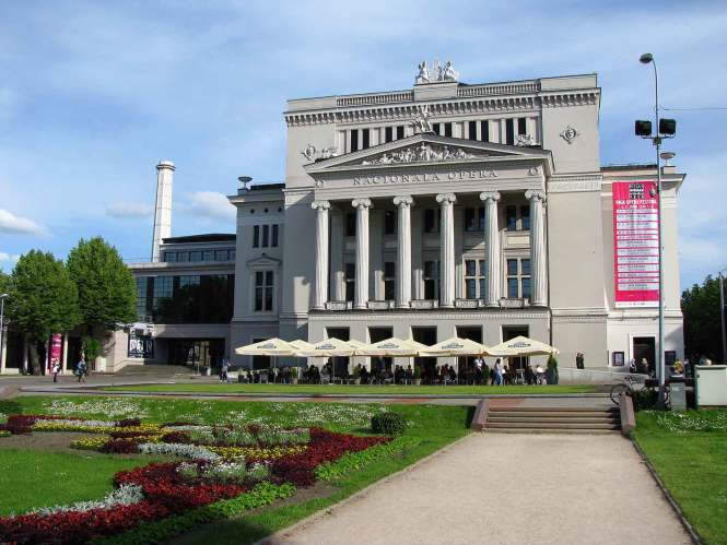 The National Opera in Riga, Latvia