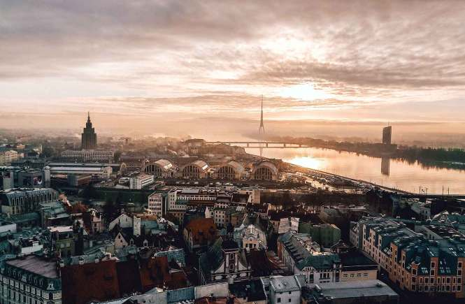 Panoramic view of Riga Latvia